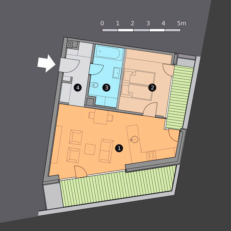 apartment F - floor plan